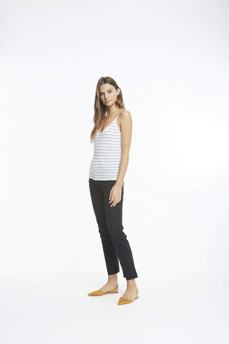 Michelle by Comune Tee Casuals Brooks V-Neck Cami White/Black