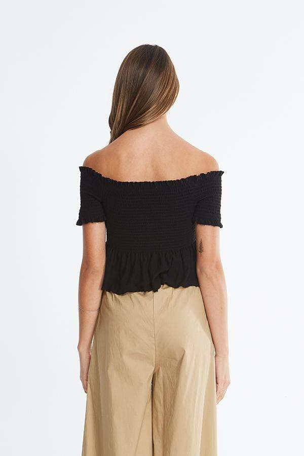 Michelle by Comune Tee Casuals Mclennan Off the Shoulder Top