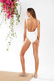 Mink Pink Swim New Beginnings One Piece White