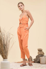 Moon River Pants Medium / Carrot / MR5176 Elise Paperbag Pants Carrot