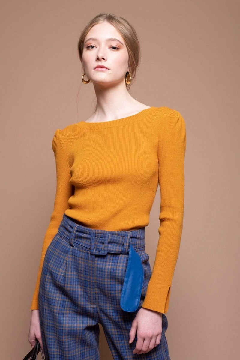 Markle Sweater Top Mustard