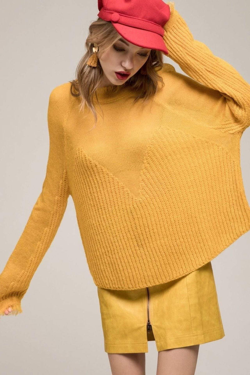 Moon River Sweater Small / Marigold / MR4550 Faye Sweater Marigold