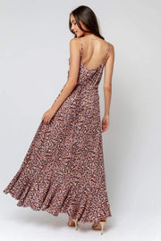 Olivaceous Dress Jane Maxi Dress Grey Leopard