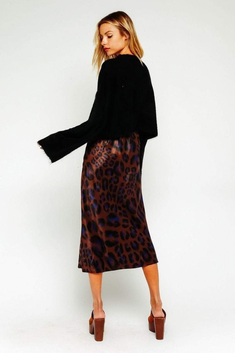 Leopard Midi Skirt Multi
