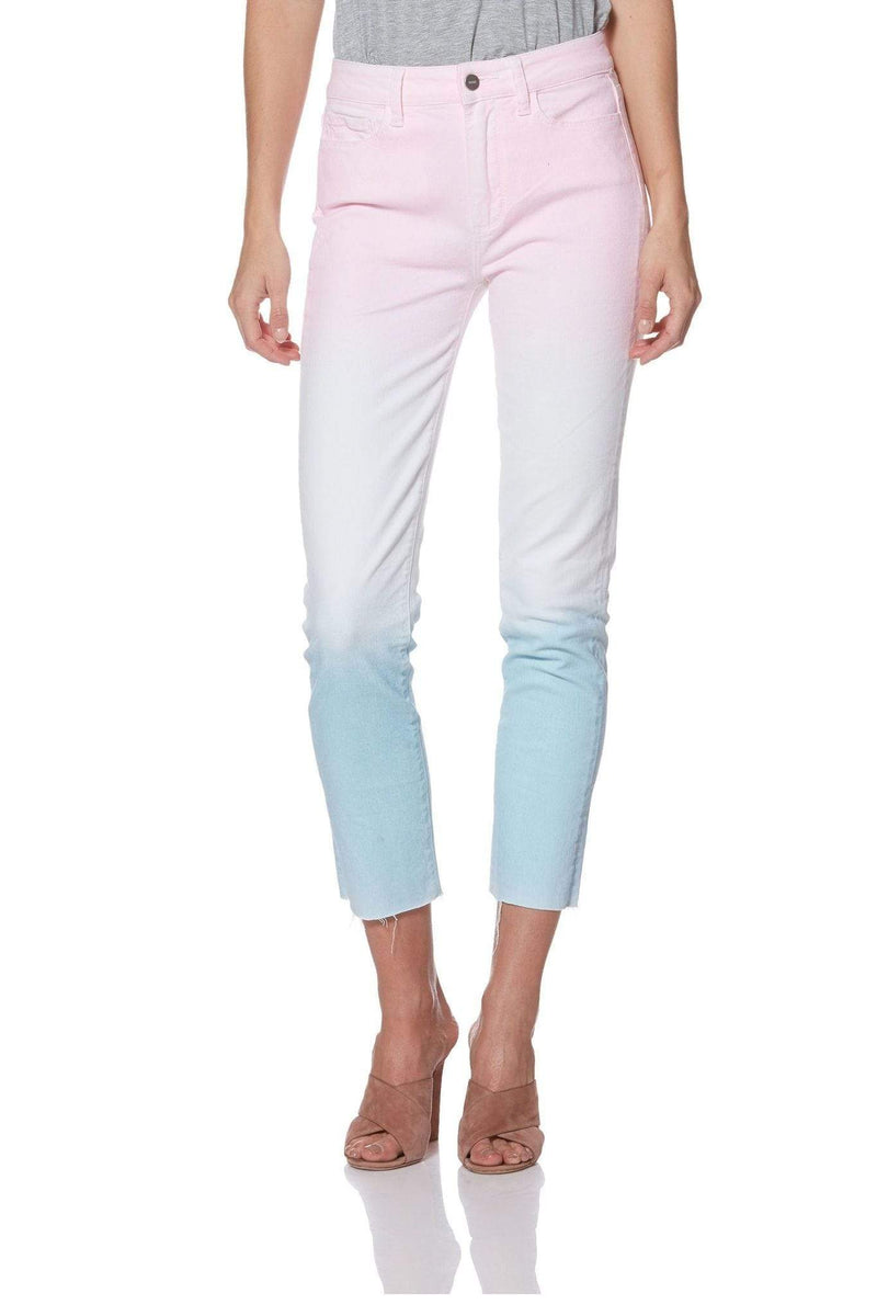Paige Denim Hoxton Slim Raw Hem Sunset Ombre