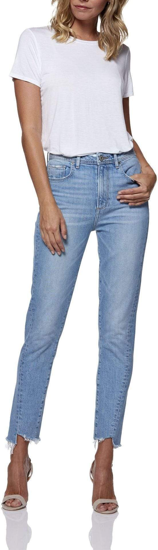Paige Denim Sarah Twist Seam Slim Carlotta
