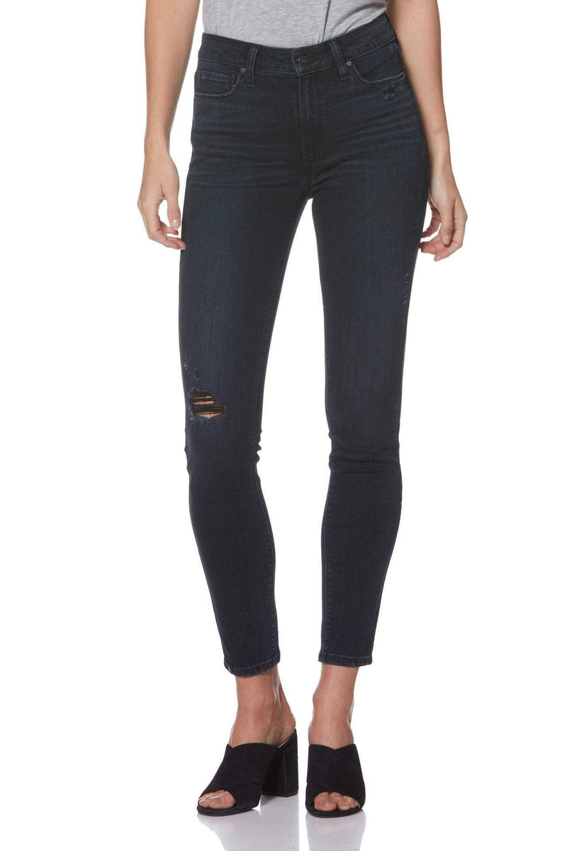 Paige Denim Size 24 / Black Lava Destructed / 2824734-6404 Margot Ankle Black Lava Destructed