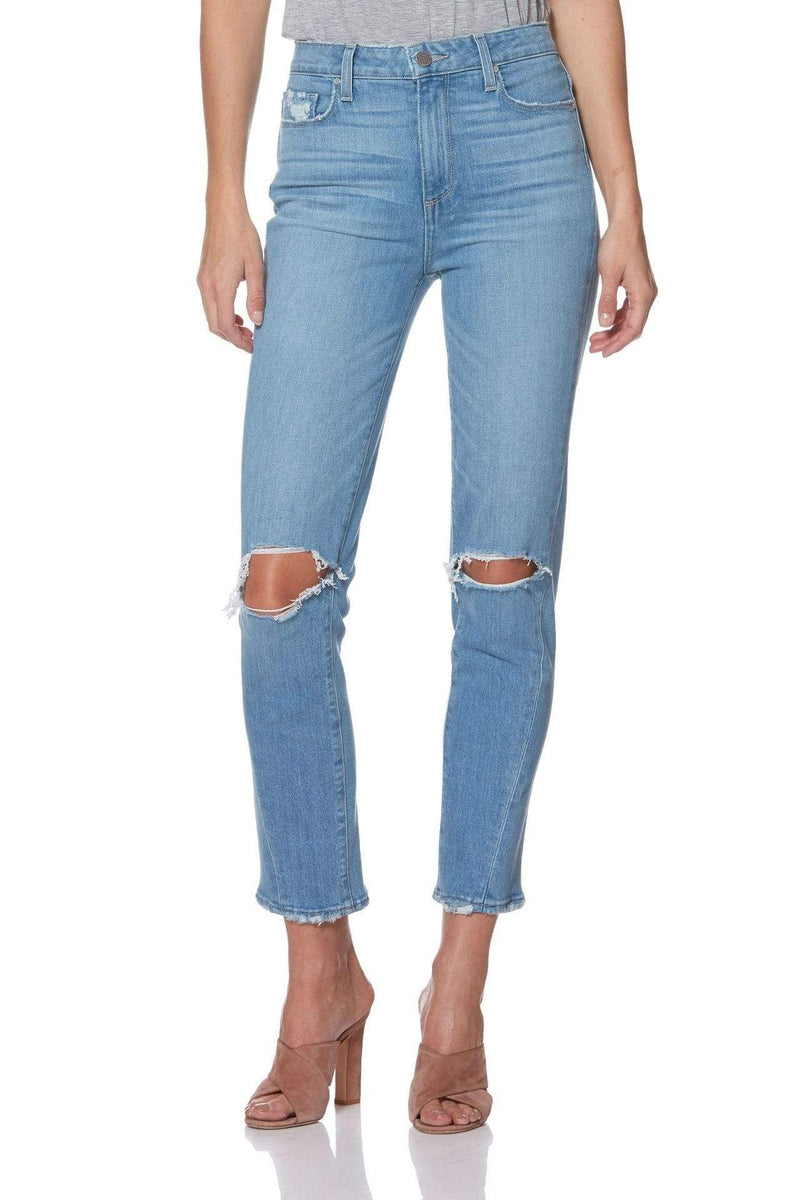 Paige Denim Size 24 / Camina Destructed / 5427B61-6420 Hoxton Slim Twisted Side Seam Camina Destructed