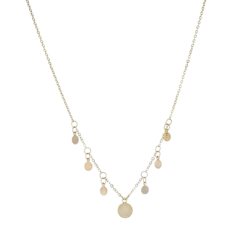 Parker Mini Gold Circle Necklace Ivory
