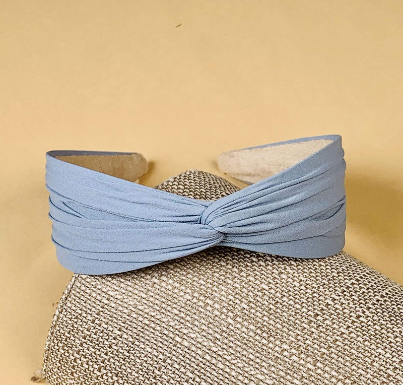Pin & Tube Accessories One Size / Soft Blue / HOB211SBL Alezae Knotted Headband Soft Blue