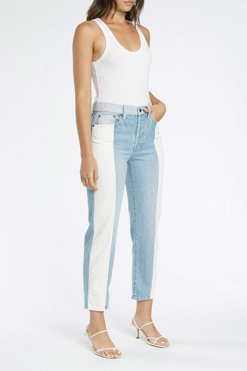 Charlie Transitions Colorblock High Rise Straight Leg Denim