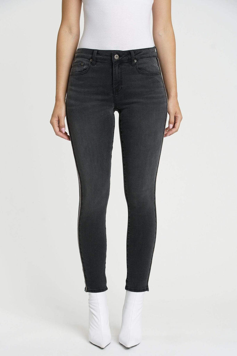 Pistola Denim Size 24 / Charcoal / P6850BEM-BSN Audrey Black Sand Mid Rise Skinny Charcoal