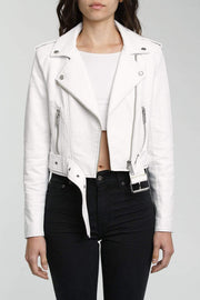Pistola Jacket X Small / Ice / P5995TPU-WHT Tracy White Light Cropped Moto Jacket White