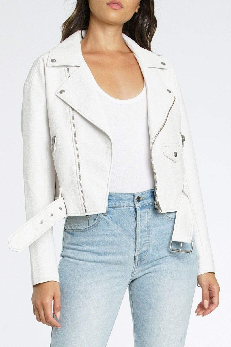 Pistola Jacket X Small / Ice / P5998TPU-WHT Daya White Light Boyfriend Moto Jacket Ice