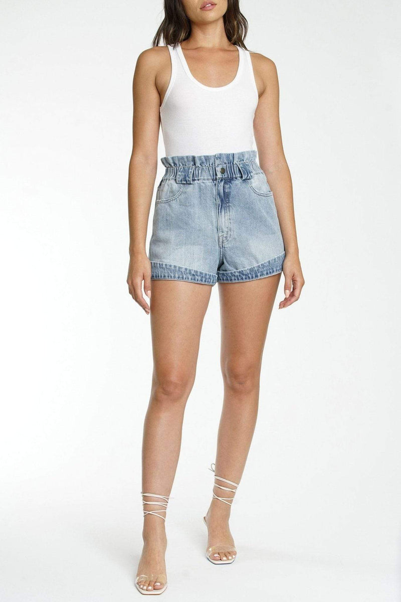 Pistola Shorts Jessa Off Duty High Rise Shorts Light Blue