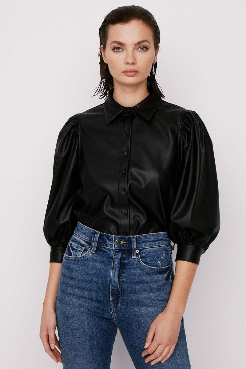 Pistola Tops Blouse Adnina Puff Sleeve Top Black