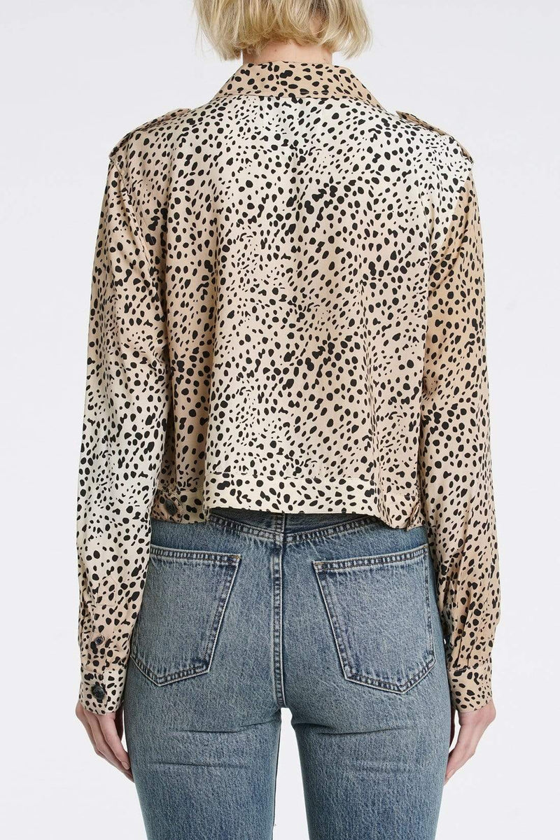 Pistola Tops Blouse Kane Wild Spots Cropped Military Shirt Multi