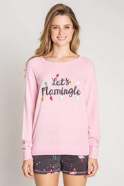 PJ Salvage Tee Casuals Let's Flamingle Tee Pink