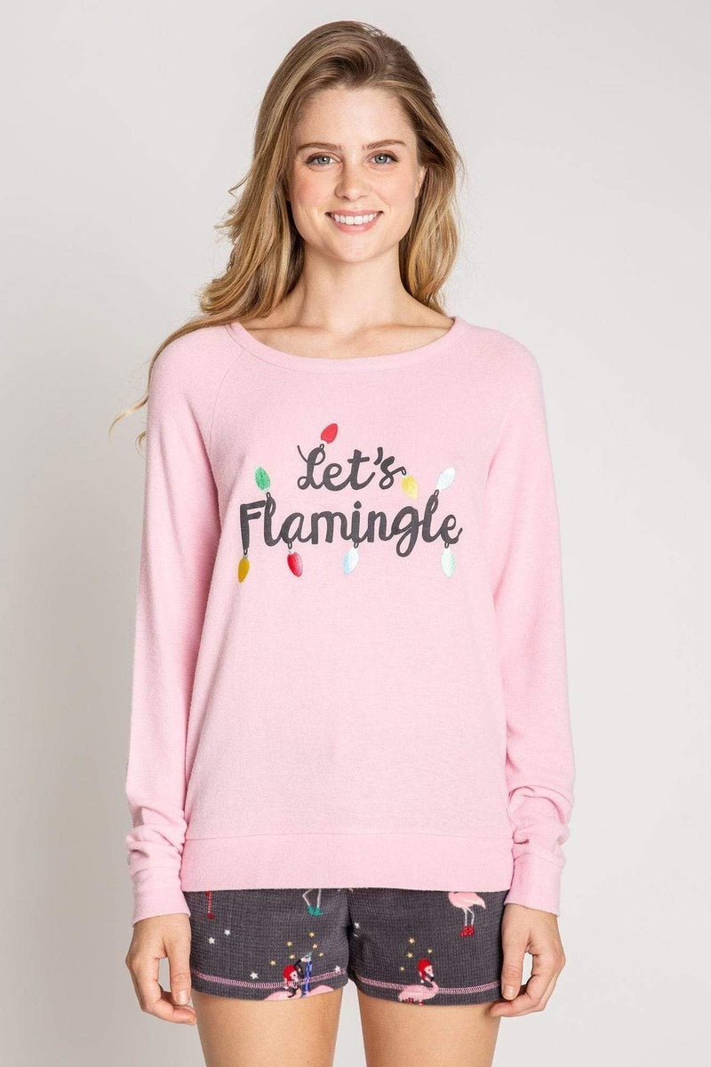 Lets Flamingle Tee Pink