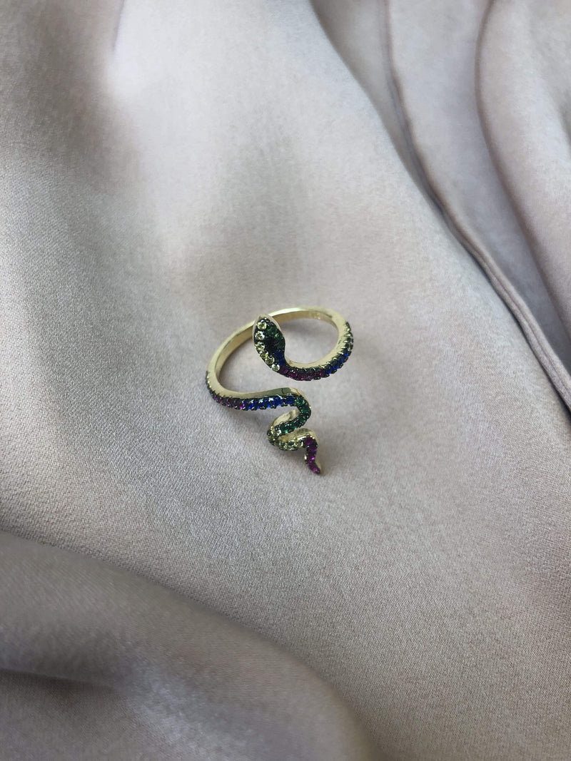 Eden Snake Ring Gold925