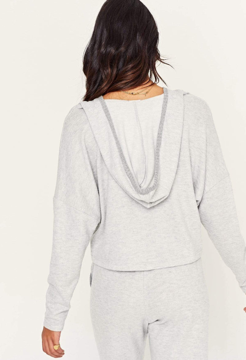 Roll With It Contrast Cozy Hoodie Heather Grey