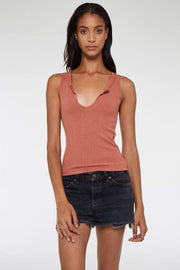 Project Social T Tee Casuals Small / Rich Ginger / 4615-TV Inca Rib Tank Top Rich Ginger