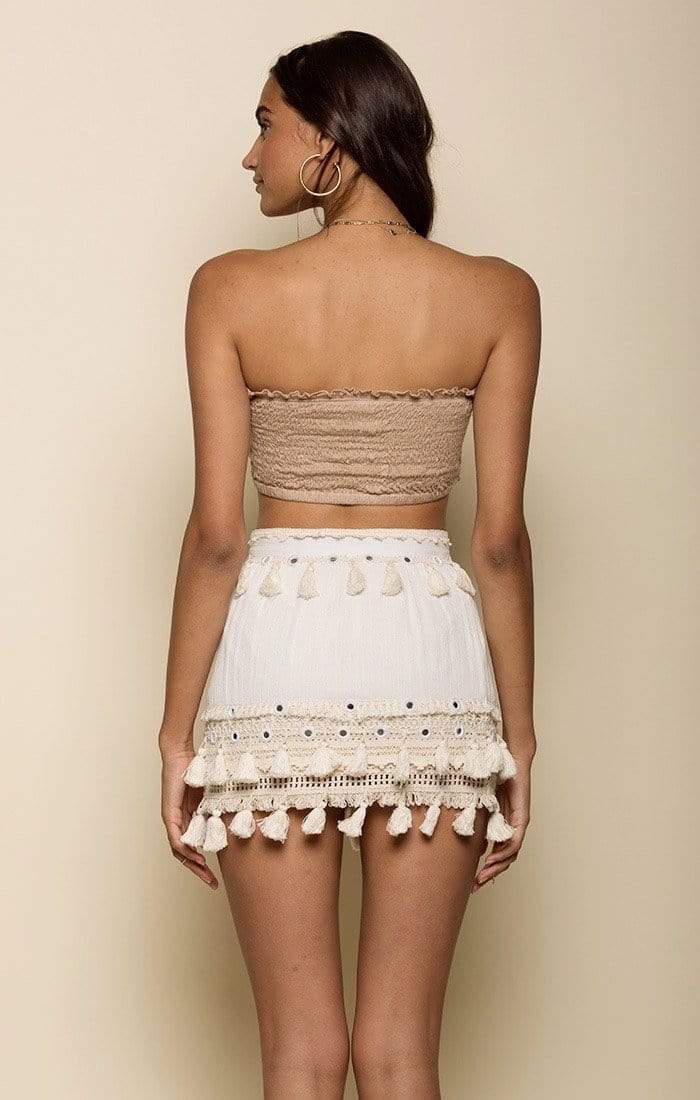 Raga Skirt Golden Bliss Mini Skirt Eggshell