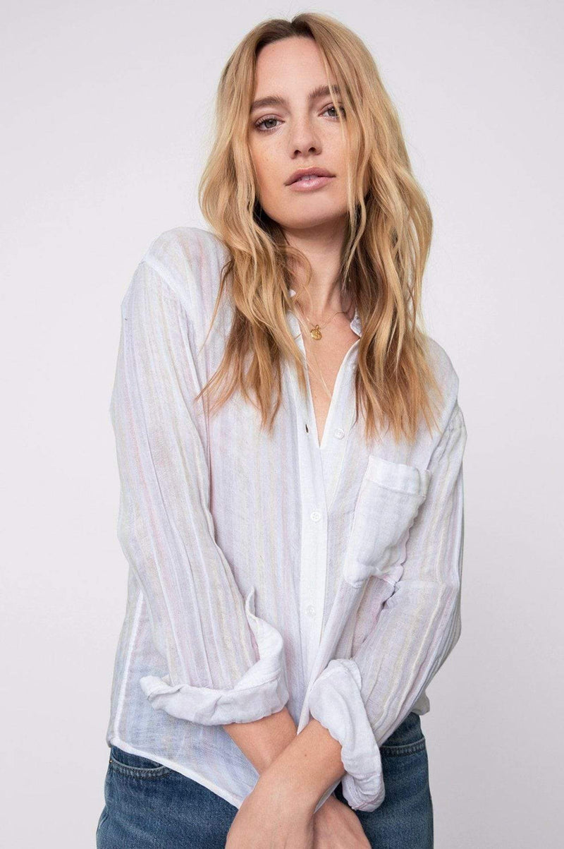 Ellis Aurora Stripe Button Down