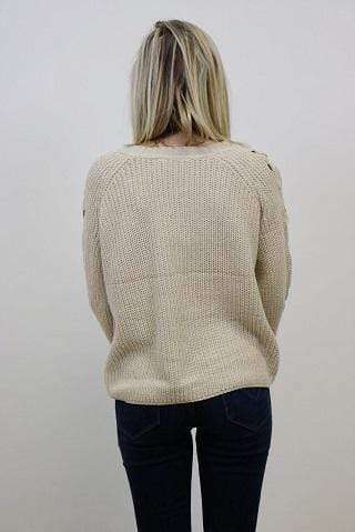 RD Style Sweater X Small / White Beach / 69S1227S Hazel Sweater
