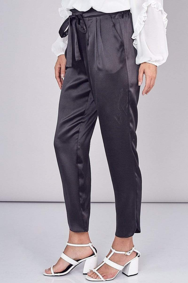 ReFine Bottoms Atlas Paperbag Jogger Black