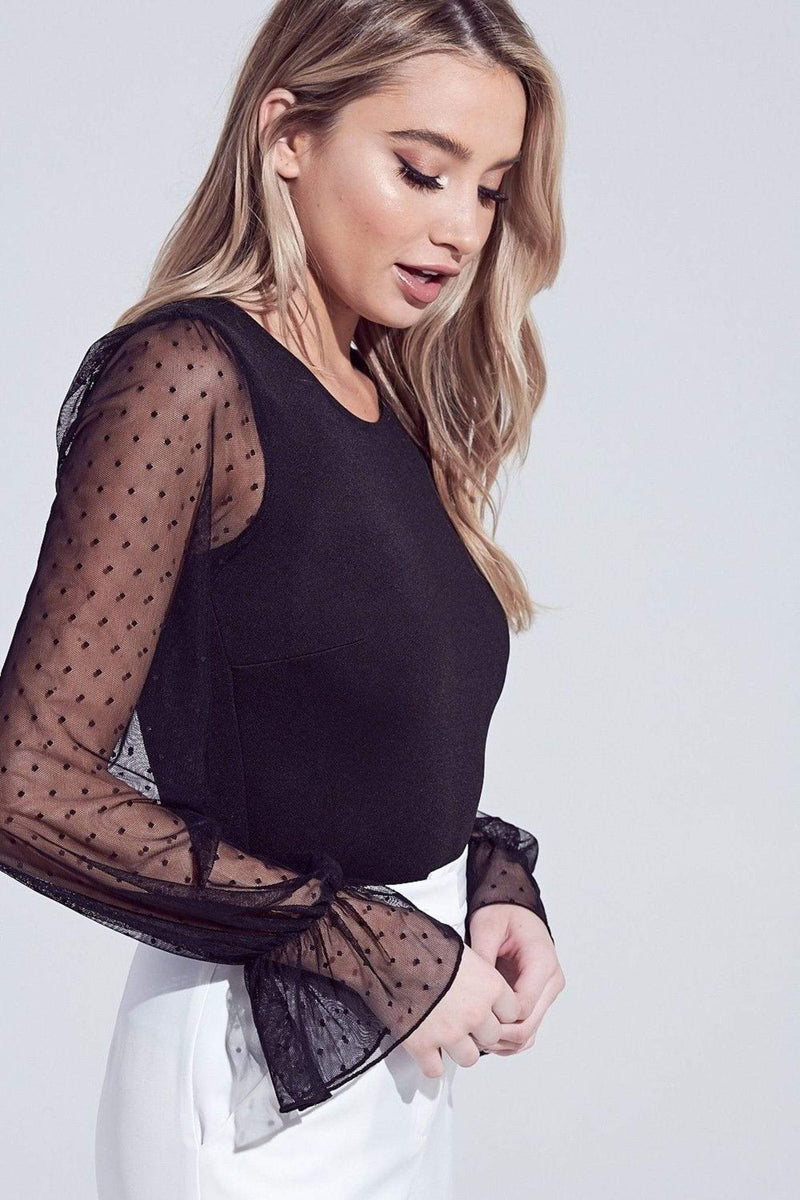 Adelie Lace Bodysuit Black
