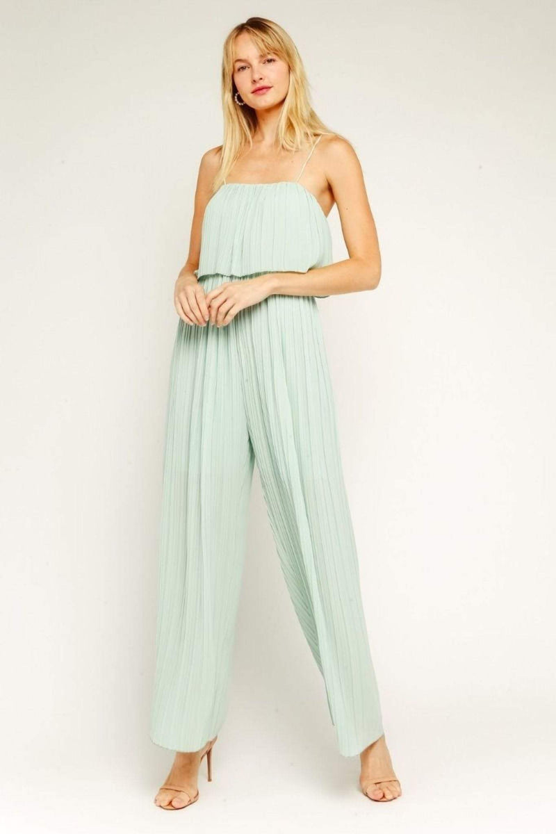 ReFine Dress Small / Sage / 20-16LJH Akuji Pleated Jumpsuit Sage