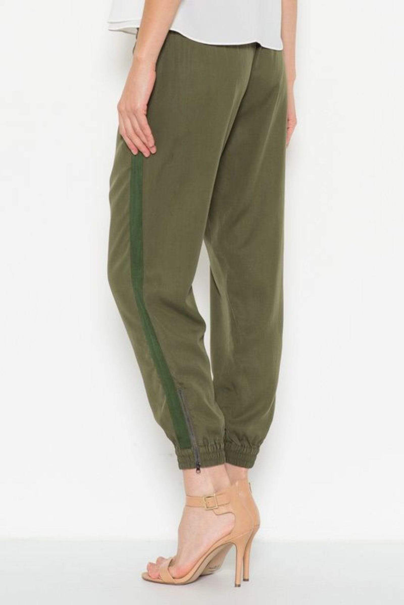 ReFine Pants Small / Olive / AZ-069 Hallie Jogger Pants Olive