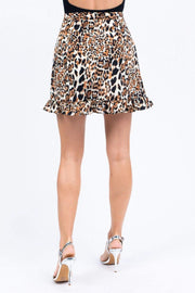 ReFine Skirt Parker Leopard Mini Skirt Brown Multi