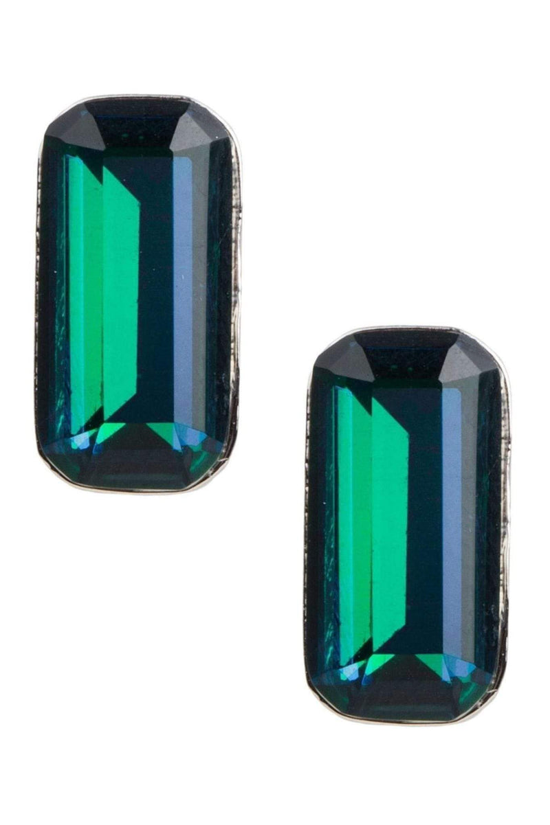 Acton Baguette Earring Blue Green