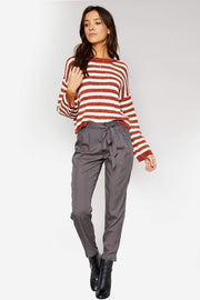 Sadie & Sage Sweater Ione Stripped Sweater Spice