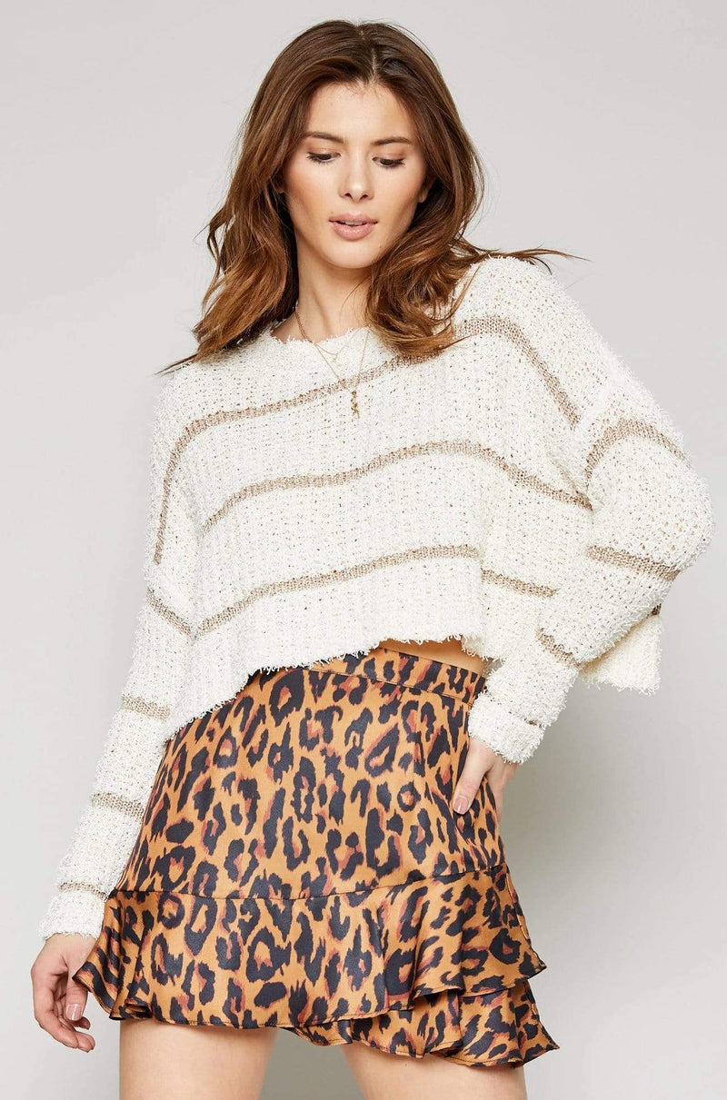 Stardust Stripe Sweater Cream