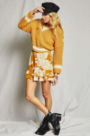 Sage the Label Skirt On The Sunset Mini Skirt Mustard