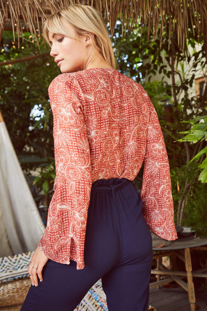 Sage the Label Tops Blouse Allegra Blouse Terracotta