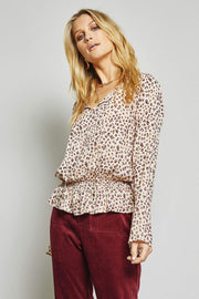 Sage the Label Tops Blouse Rebel Heart Top Ivory Multi