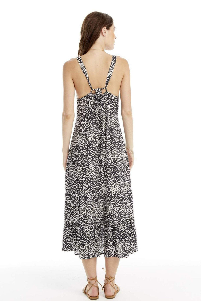 Saltwater Luxe Dress Indigo Dots Tank Midi Dress Multi