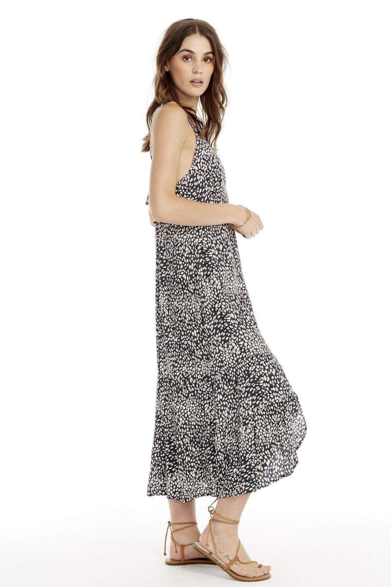Saltwater Luxe Dress X Small / Multi / S1196-W127 Indigo Dots Tank Midi Dress Multi