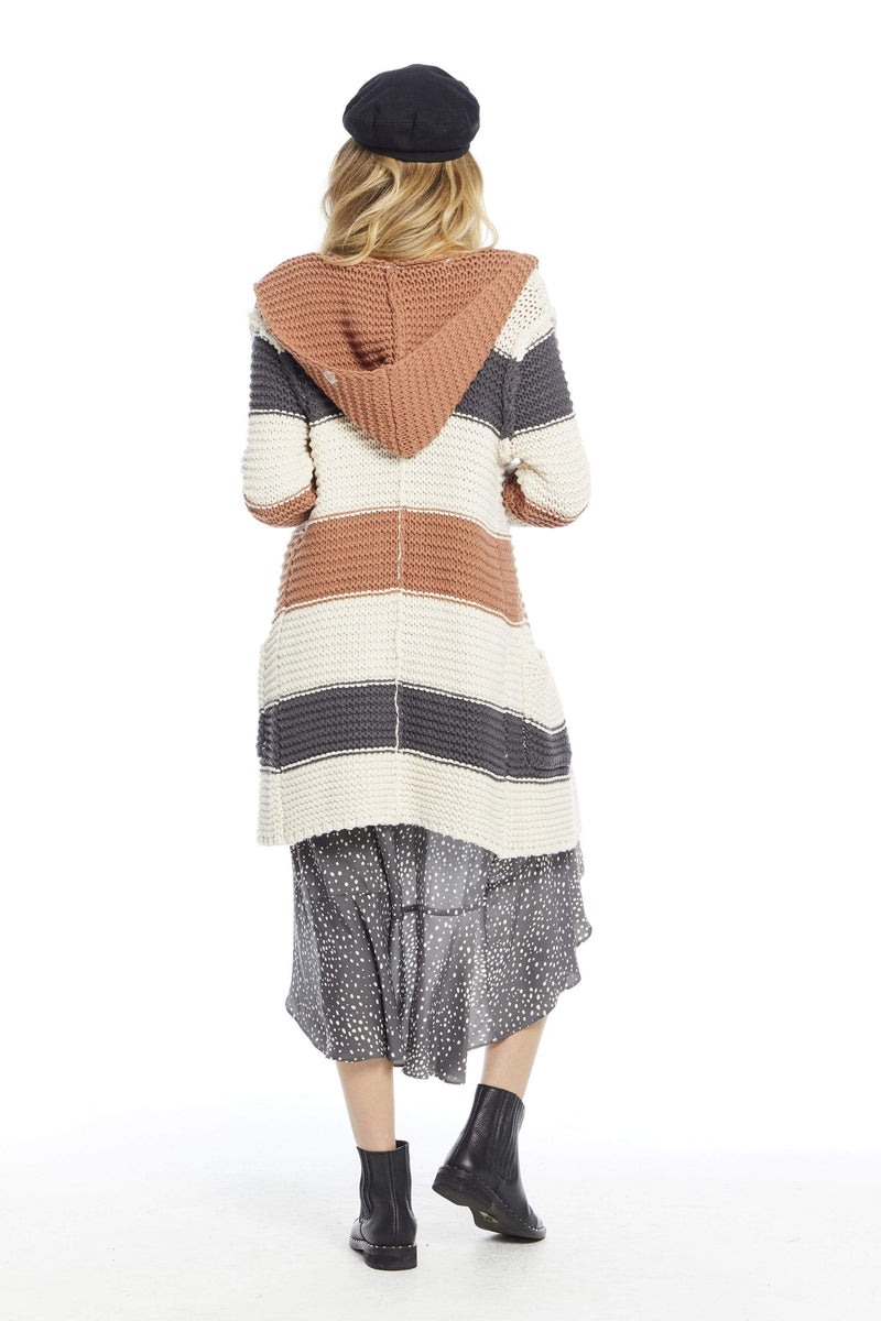 Chunky Hooded Sweater Natural