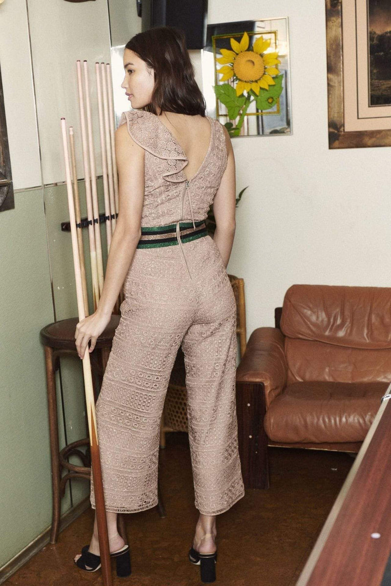 Mayra Lace Jumpsuit Rose Gold