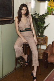 Saylor Dress Medium / Rose Gold Mayra Lace Jumpsuit Rose Gold