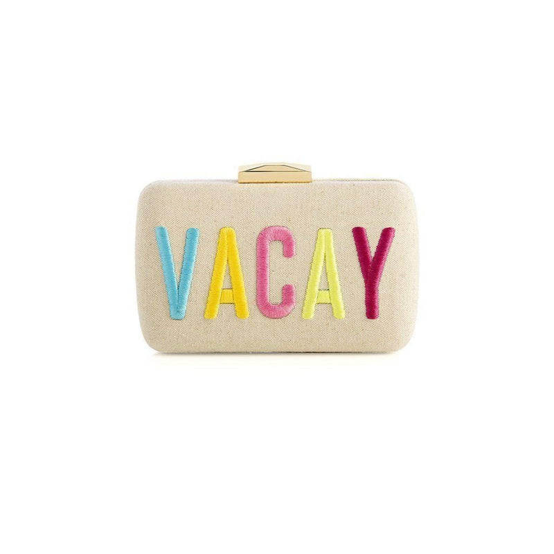 Vacay Minaudiere Clutch Natural