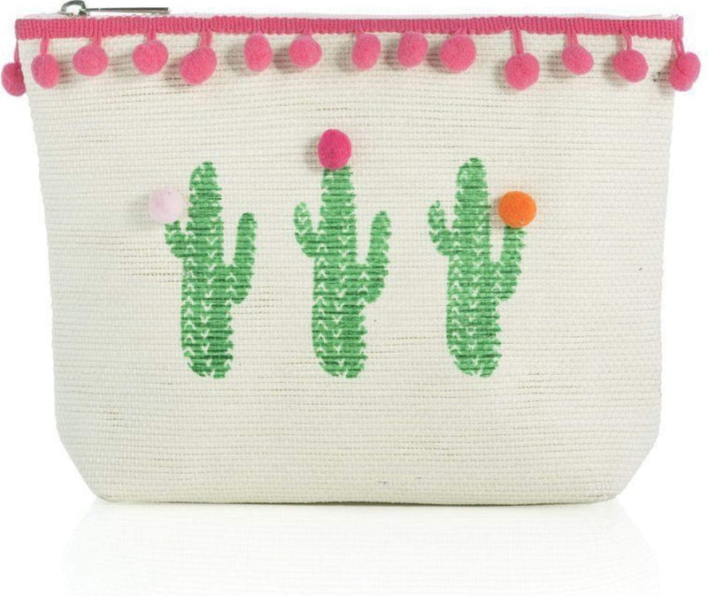 Shiraleah Bag One Size / Natural / 02-QQ-003NA Cactus Zip Pouch