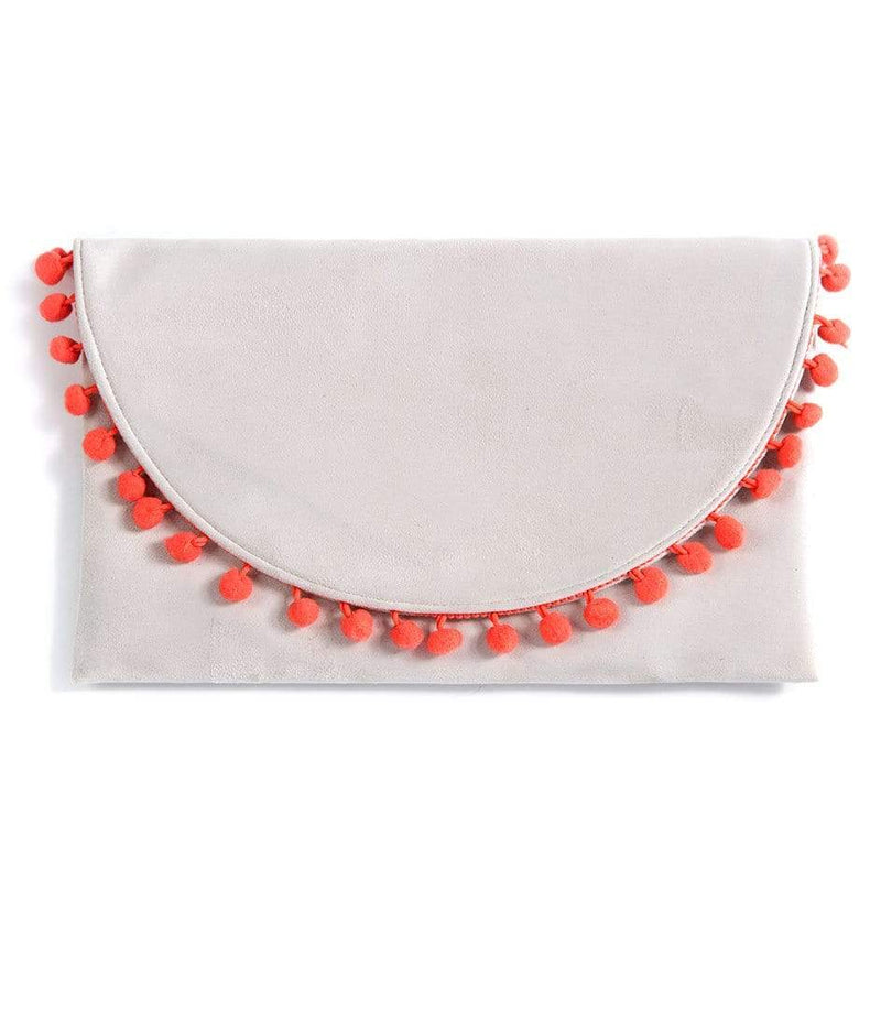 Dalia Pom Pom Clutch Pebble