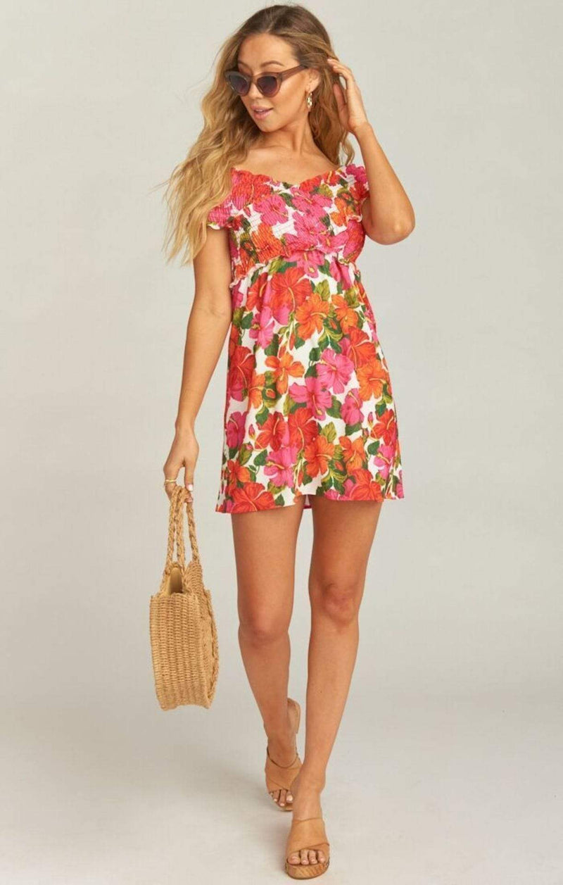 Show Me Your MuMu Dress Mandy Smocked Dress Bahama Mama