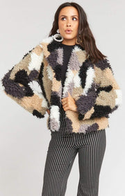 Show Me Your MuMu Jacket Kravits Faux Fur Jacket Mineral